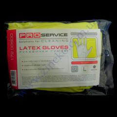 Перчатки плотные унив. желтые с ХБ напыл. р.L 2пары