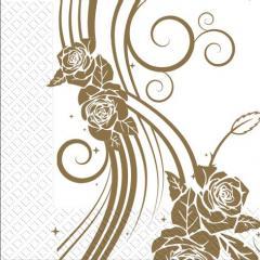 Салфетка 33х33 3-сл. Свадебные розы 50шт