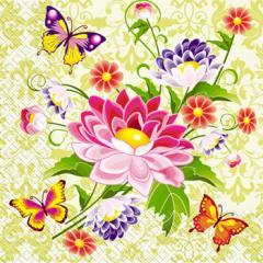 Салфетка 33х33 Бабочки 20шт