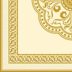 Салфетка 33х33 Золотая рамочка 20шт