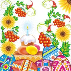 Napkin 33х33 Easter candle of 20 pieces