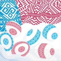 Салфетка 33х33 рушник красно-синий+писанки 20шт