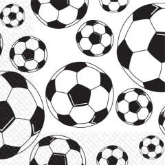 Салфетка 33х33 Футбольные мячи 3-х сл. 50шт