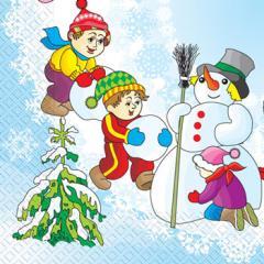 Napkin 33х33 Snowman of Margo of 20 pieces