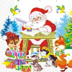 Napkin 33х33 Father Frost packing of 20 pieces.