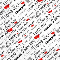 Napkin of 33х33 Love You of Margo of 20 pieces