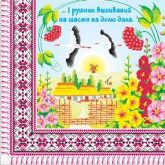 Napkin of 33х33 Aisty-rushnik embroidered... Margo of 20 pieces