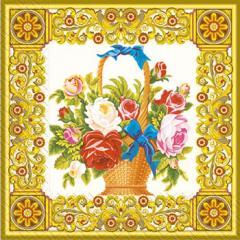 Napkin 33х33 Klasicheskiye Margo's flowers of 20 pieces