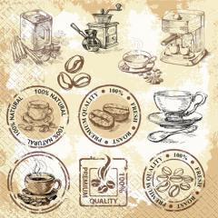 Napkin of 33х33 Coffee of Margo of 20 pieces