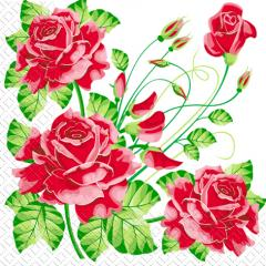Napkin 33х33 Red roses of Margo of 20 pieces
