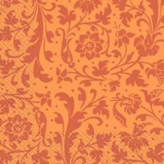 Napkin 33х33 red, orange ornament of Margo of 20 pieces