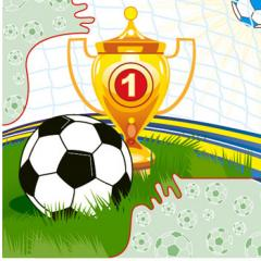 Napkin 33х33 cup Margo's soccer 20 pieces