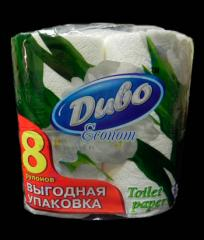 Toilet paper 8 of roll Miracle House-keeper Obukhov 2 layers cellulose white