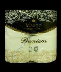 Toilet paper of Margo Premium 3sl. 4 rolls. cellulose