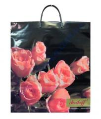 Package of the plastic handle 40*43+3sm/100 Bouquet premium