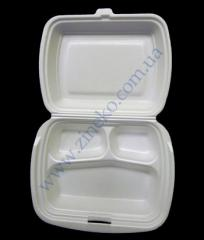 Lunchbox 24*20,5*8sm 3 divisions of 100 pieces of LB-3