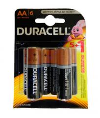 Батарейка алкалиновая Duracell Basic AA 1.5V LR6 5шт+1 б/к