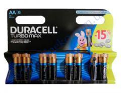 Батарейка алкалиновая Duracell TurboMax AA 1.5V LR6 8шт