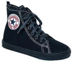 Gym shoes for the boy on laces of