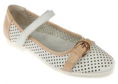 Туфли для девочки на липучке Перфорация Calorie,