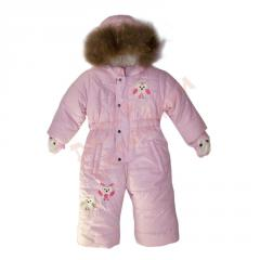 Overalls for the girl with a fur podstyozhka