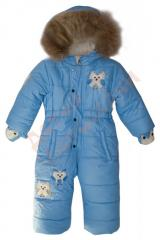 Overalls for the boy with a fur podstyozhka