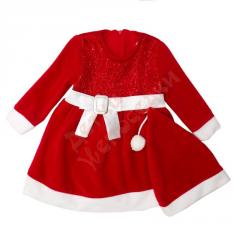 Dress a long sleeve for the girl with the Santa