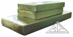 Plates titanic GOST 23755-79