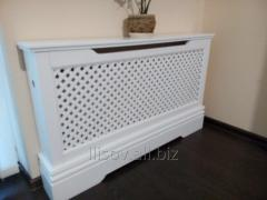 Decorative panels on electric heaters.
