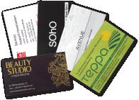 Business cards, pocket calendar cards