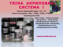 Trina monomer for problem nails, with the muffled