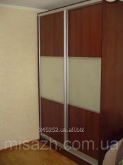 Interroom partitions, doors of sliding wardrobes