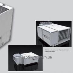 Напольный воздухонагреватель РК-К с конденсацией вертикальный вариант