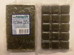 The frozen forage for fishes the Vegetable diet.