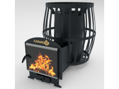 Canada 20 Barrel stove with heat-resistant glass