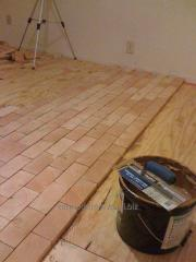 Thermofloors for the house, a wooden floor
