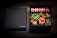 Box under flowers and makaruna, 175x175x110