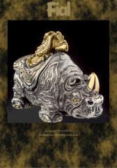 Шкатулки ювелирные. Шкатулка - Носорог.