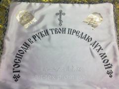 Наволочка ритуальная в гроб атлас, фольга