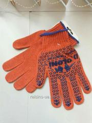 Gloves for work with the tool art.526