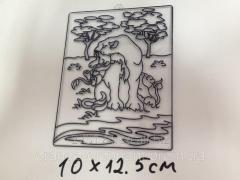 """12230-4/1 Stained-glass window """"Lioness"""
