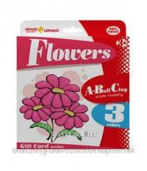 25075 Set of ball Flowers plasticine (3 tsv. on 5