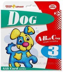 25076 Set ball to Dog plasticine (3tsv. on 5 gr.)