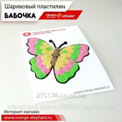 25077 Set ball to Butterfly plasticine (3 tsv. on