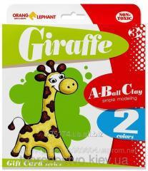 25078 Set of ball Giraffe plasticine (3 tsv. on 5