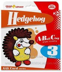 25080 Set ball to Hedgehog plasticine (3 tsv. on 5