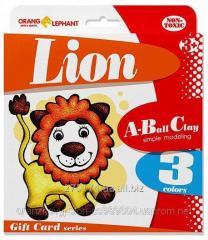 "25081 Set ball plastilina ""Lion"