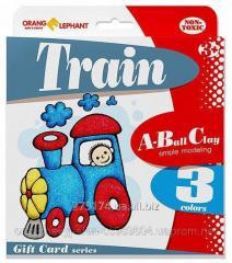 25083 Set of ball Train plasticine