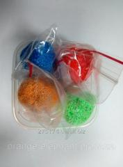 Ball plasticine in a jar 4 colors on 10 grams.