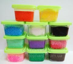 Fine-grained ball plasticine in a jar of 20 grams